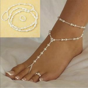 Pearl ankle and toe bracelet NWT
